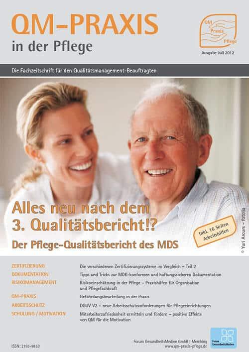 Ausgabe Jul/Aug 2012<br>3. MDS-Pflege-Qualitätsbericht