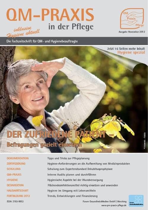 Ausgabe Nov/Dez 2012<br>Zufriedenheitsbefragungen