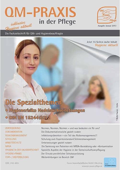 Ausgabe Jan/Feb 2013<br>DIN EN 15224:2012<br>Nadelstichverletzungen