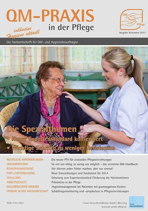 Ausgabe Nov/Dez 2013<br>Expertenstandard Chronische Schmerzen<br>Resistenzen minimieren