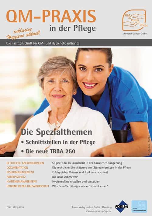 Ausgabe Jan/Feb 2014<br>Schnittstellenmanagement<br>TRBA 250