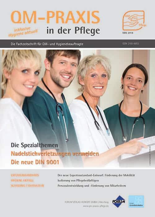 Ausgabe Mai/Jun 2014<br>Revision der DIN ISO 9001<br>Nadelstichverletzungen vermeiden