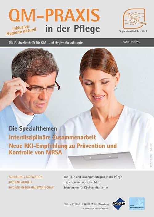Ausgabe Sep/Okt 2014<br>Interdisziplinarität<br>KRINKO-Empfehlung MRSA