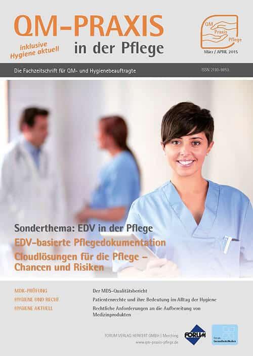 Ausgabe Mär/Apr 2015<br>EDV-basierte Pflegedokumentation<br>Mobile Pflegedokumentation