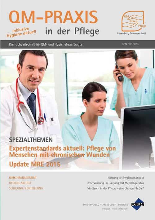 Ausgabe Nov/Dez 2015<br>Expertenstandard Chronische Wunden<br>Update MRE 2015