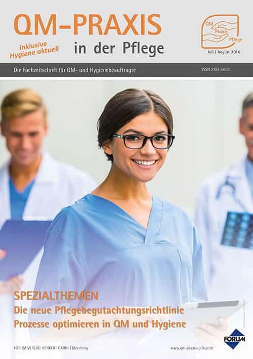 Ausgabe Jul/Aug 2016<br>Pflegebegutachtungsrichtlinie<br>Prozessoptimierung