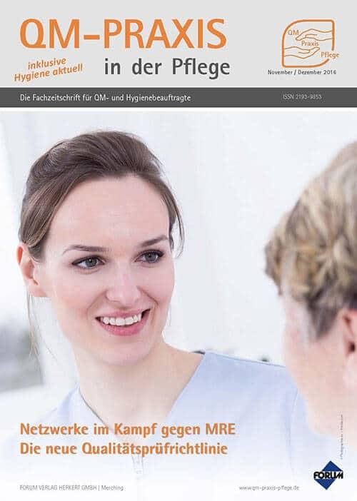 Ausgabe Nov/Dez 2016<br>MRE-Netzwerke<br>Die neue Qualitätsprüfrichtlinie