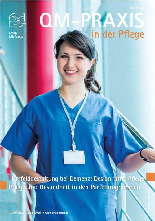 Ausgabe Jul/Aug 2017<br>Umfeldgestaltung bei Demenz<br>Parteiprogramme zu Pflege und Gesundheit