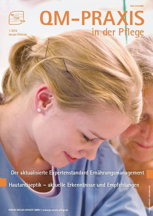 Ausgabe Jan/Feb 2018<br>Expertenstandard Ernährungsmanagement<br>Hautantiseptik