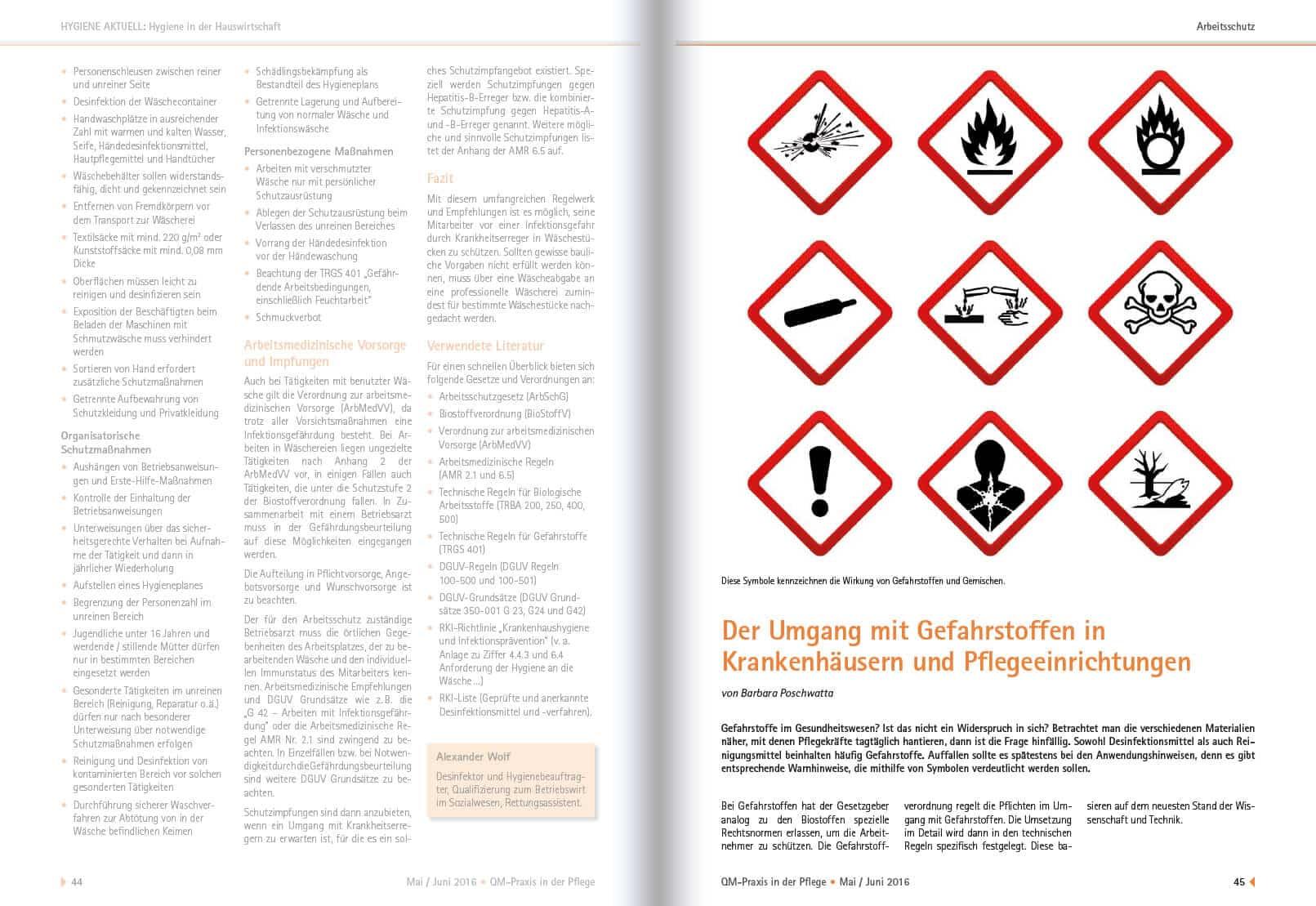 2016-05 Umgang mit Gefahrstoffen in Krankenhäusern und Pflegeeinrichtungen 1