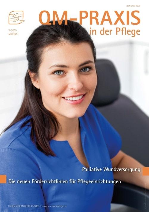 Ausgabe Mai/Jun 2019<br>Palliative Wunden<br>Fördermöglichkeiten für die Pflege